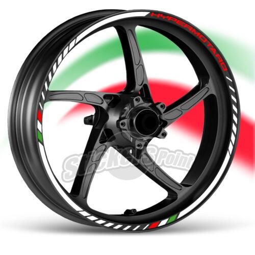 kit Adesivi moto DUCATI HYPERMOTARD  strisce RACING9 cerchi ruote stickers label