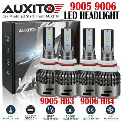 Fanless 9005 H11 Combo 22000LM Cree LED Headlight Kit Hi Lo Beam WHITE Bulb EA