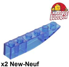 6031140 Brick 42023 LEGO NEW 6x1 Blue Slope Curved Inverted 8x