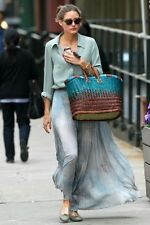 TopShop Grey And Blue Skeleton Leaf Pleated Maxi Dress, UK Size 12 Stunning!