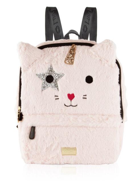 7e06dcae0 Betsey Johnson Pink Blush Sienna Unicorn Cat Backpack Bag Faux Fur ...