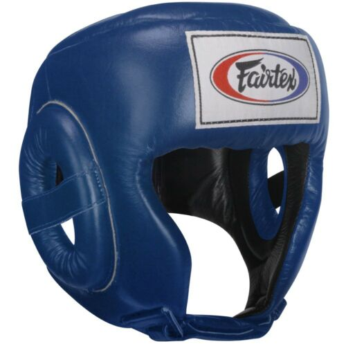 Fairtex Competition Headgear Boxing MMA Sparring Head Guard Black Blue Red