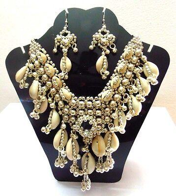 New Kuchi Tribal Cowries Necklace Belly Dance Vintage Jewelry India Gypsy Boho