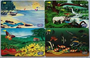 Malaysia Used Phone Cards - 4 pcs Preserve the Beauty of Nature