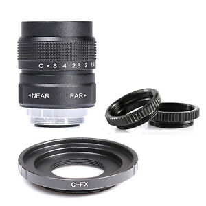 25mm-F1-4-CCTV-TV-Movie-lens-C-Mount-to-Fuji-Fujifilm-X-E2-X-E1-X-Pro1-M1-C-FX