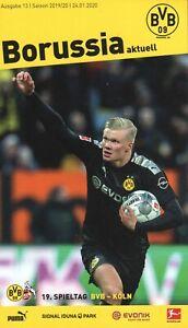 Borussia-Aktuell-13-19-20-BVB-09-1-FC-Koln-Haaland-Flyer-amp-Poster