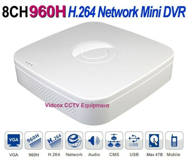 8Ch FULL 960H Real-time H.264 Network Smart Phone Viewing CCTV Security DVR P2P