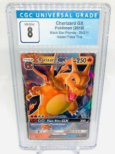 Pokemon SM211 Black Star Promo Charizard GX NM/Mint Graded CGC 8 (not PSA)
