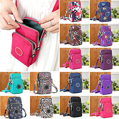 Mobile Phone Women Shoulder Bag Crossbody Pouch Case Belt Handbag Purse Wallet