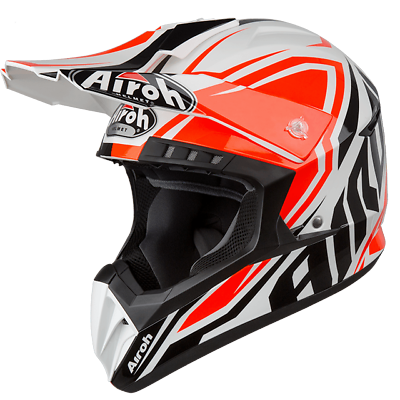 Casco Da Moto Cross Enduro Quad Airoh Switch Impact Orange Gloss 2019 Taglia Xl