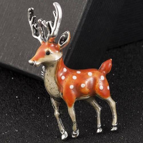 Fashion Lovely Sika Deer Animal Brooch Pin Enamel Wedding Costume Jewelry Gifts