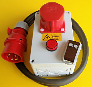 Starkstrom-Funkfernbedienung-400-Volt-16-A-ca-30-Mtr-Funk-Schalter