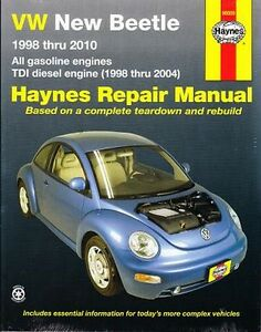 1998 2010 vw new beetle haynes repair service workshop manual book rh ebay com VW New Beetle Classic VW Beetle