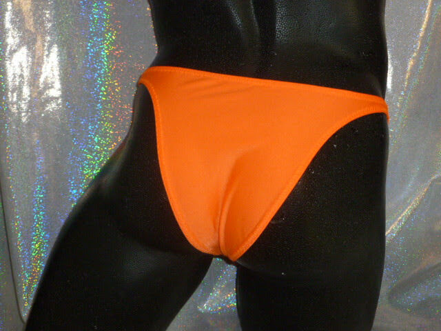 NEU! Badetanga 2/3 PO! Hot! Thong Tanga Badestring  Posingslip Neon Orange