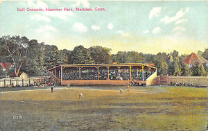 Meriden Ct Hanover Park Baseball Game In Progress Original Postcard Fan Apparel & Souvenirs