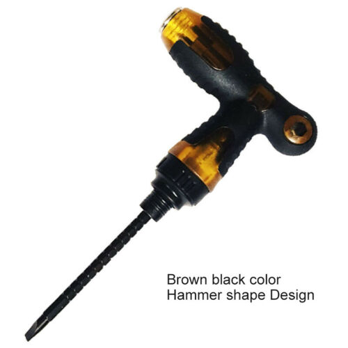 T type Dual-purpose Ratchet Screwdriver One Word Cross Household Repair Tools