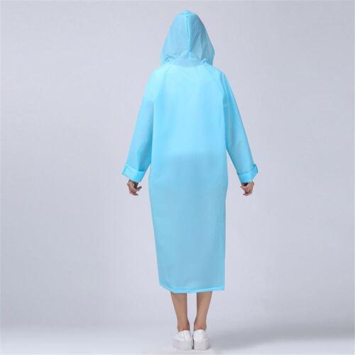Top Quality Unisex PVC Raincoat Long Sleeve Hooded Waterproof Jacket Coat