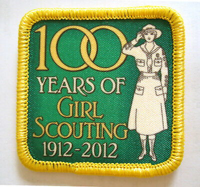 NEW PATCH 100th Anniversary 1920 Khaki Girl Scout Salute Flag VOLUME DISCOUNT