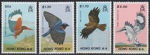Hongkong-1988-Mi-536-39-Tiere-Animals-Voegel-Birds-Ruettelfischer