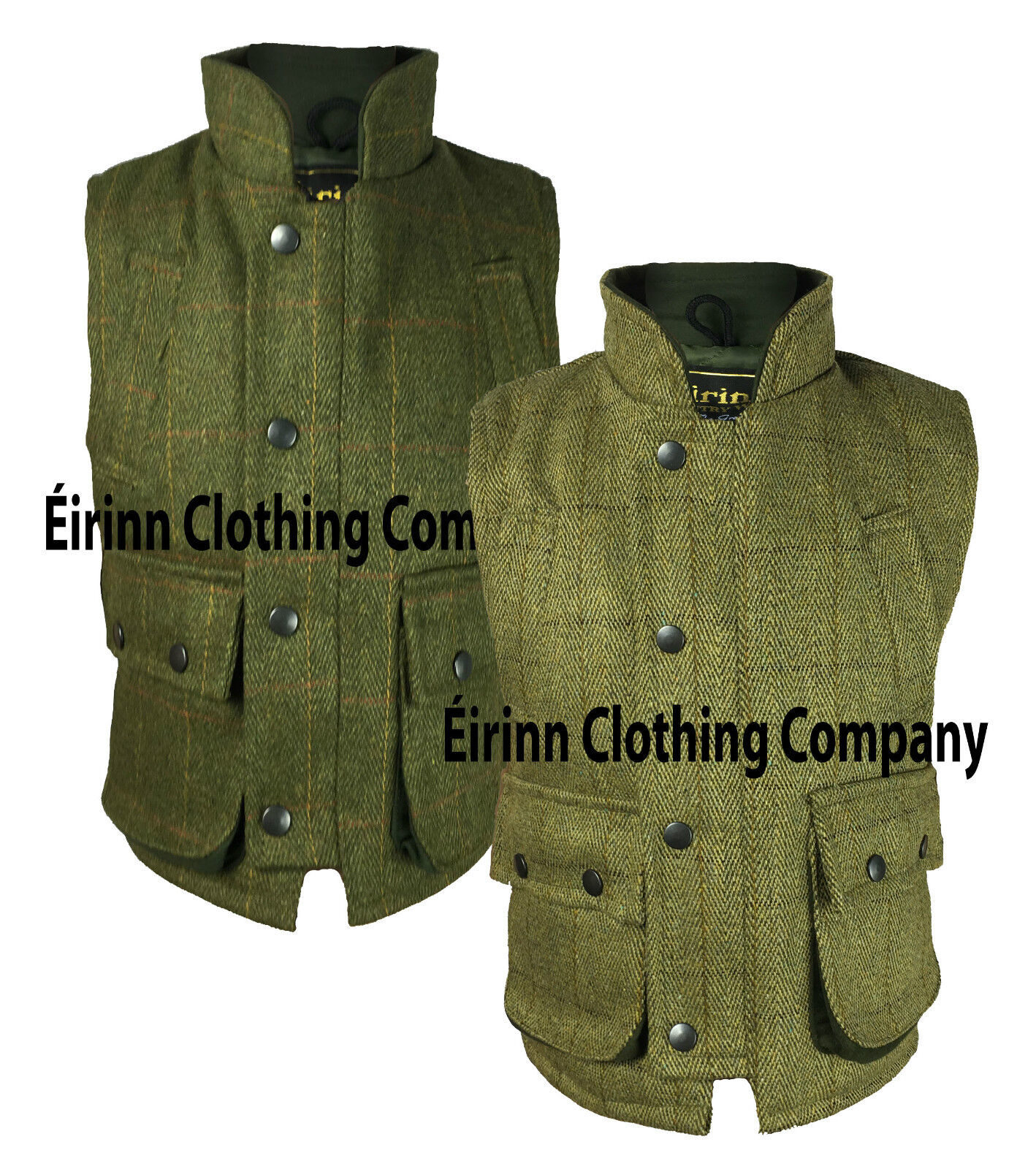 Kids Éirinn CountryWear Teflon Derby Tweed Hunting Shooting Waistcoat Bodywarmer