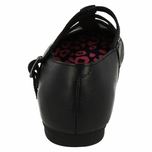 Bl Quartzflash Clarks School Shoes Leather Girls Black aqnqAwOfY7
