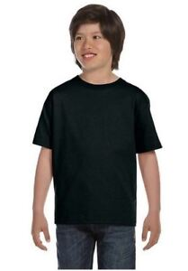 Pack-of-10-Hanes-Tagless-Kids-Boys-Girls-T-Shirts-Tees-Black-White-100-Cotton
