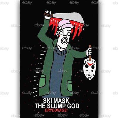 Custom Silk Poster Ski Mask The Slump God Wall Decor 24x36 Inch