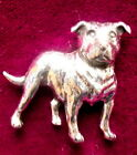 Quality Pewter Staffordshire Pit Bull Dog Brooch Pin Signed