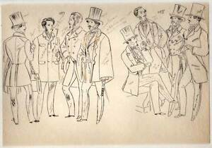 Fashion Antique Women's And Male Bad Set Of'etude De On Paper Tracing Clear And Distinctive Art Drawings