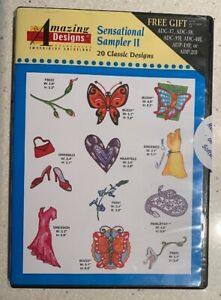 20-Sensational-Sampler-II-Machine-Amazing-Embroidery-Designs-CD-ROM-NEW