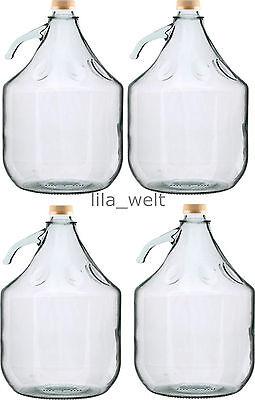 Gärballon Flasche Glasballon Weinballon Glas Ballon  Glasflasche 5L NEU