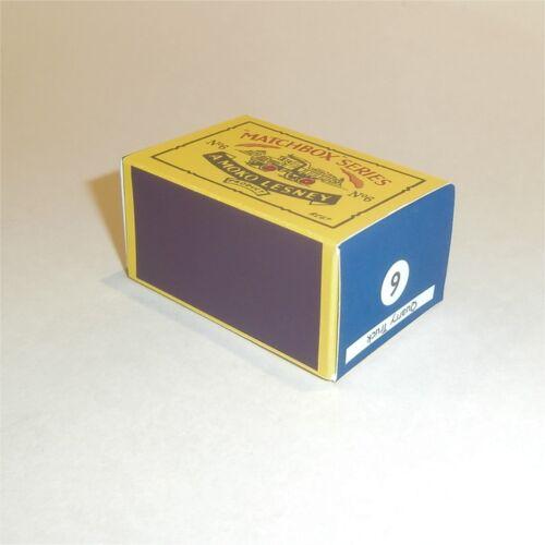 Matchbox Lesney  6 a Quarry Truck empty Repro B style Box