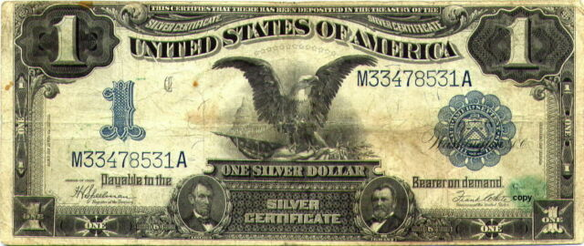 1899 $1 BLACK EAGLE NOTE ~REPRODUCTION~