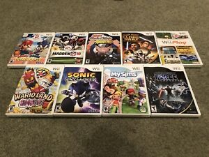 Nintendo-Wii-9-Game-Lot-Sonic-Unleashed-Mario-Sonic-Star-Wars-More-All-CIB