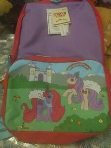 Stranger-Things-16-034-Kids-My-Little-Pony-Retro-Erica-039-s-Backpack-Bag-Purple-MLP