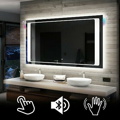 Illuminated LED Bathroom Backlit Mirror TOUCH or SENSOR ...