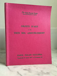 Catalogue Di Vendita Tajan Ader Picard Articolo Arte 25 Mars 1977