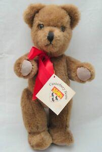 Canterbury-UK-Teddy-Bear-Hamish-13in-Mohair-Wool-Plush-1986-Jointed-Hang-Tag-Vtg