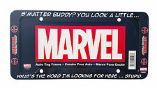 Marvel's Buddy Deadpool Auto Plastic License Plate Frame Universal Fit 1 PC