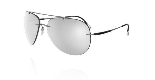 2c407db5818 Silhouette Titanium Aviator Sunglasses ADVENTURER Matte Grey Mirror  8667-6227