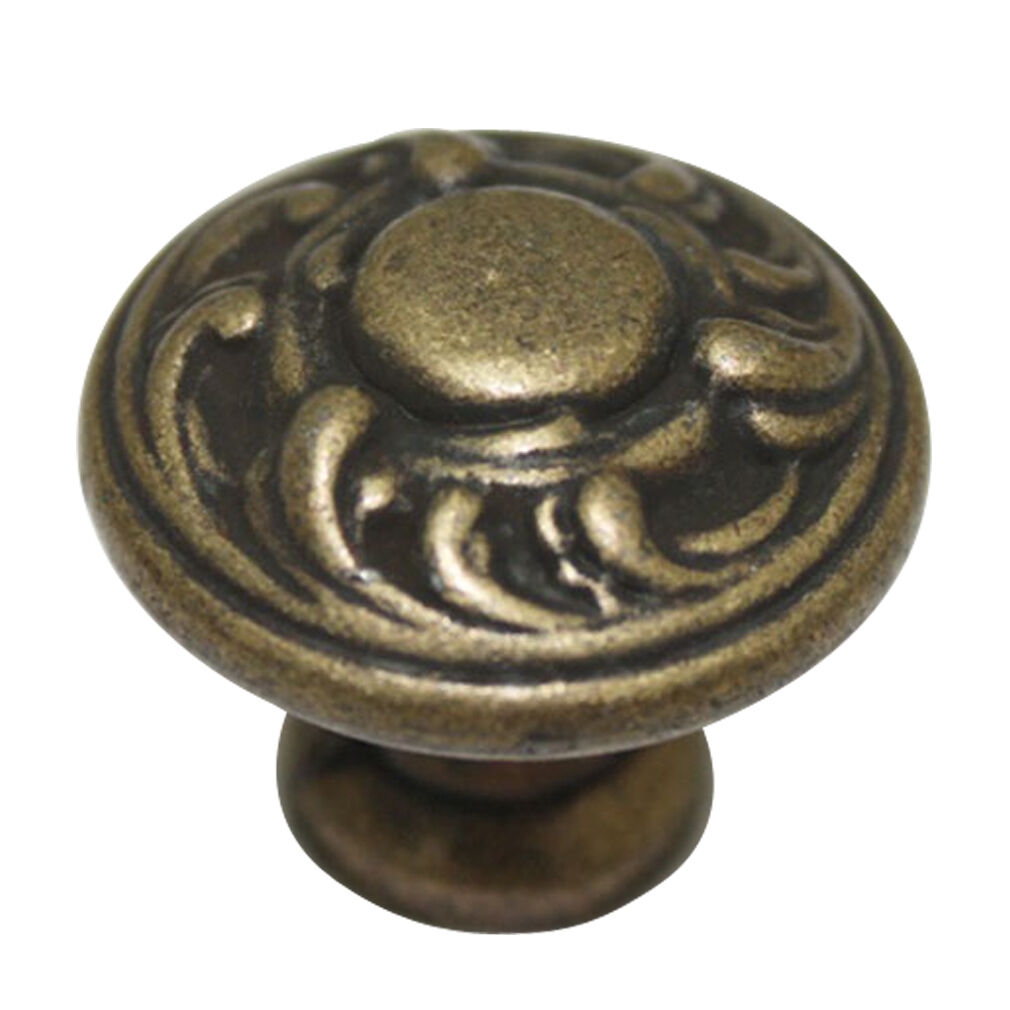 15 pcs Vintage Brown 30mm Metal Pull Handles Cabinet Drawer Knobs JC-5063