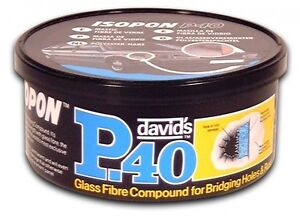 DAVIDS ISOPON P40 GLASS FIBRE 250ML TUB BRIDGES HOLES AND RUST QTY 1 ...