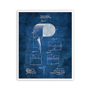 Toilet paper roll blueprint diagram unframed poster bathroom decor image is loading toilet paper roll blueprint diagram unframed poster bathroom malvernweather Images