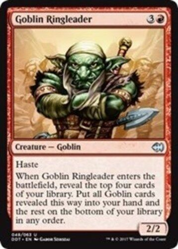 4x Goblins Near Mint x4 Goblin Ringleader Duel Decks: Merfolk vs English