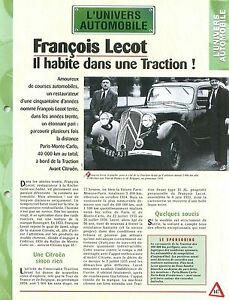 Francois-Lecot-Paris-Monte-Carlo-Traction-Avant-Citroen-Car-Auto-FICHE-FRANCE