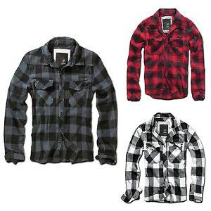 Brandit-Checkshirt-Herren-Hemd-Karo-mehrere-Farben