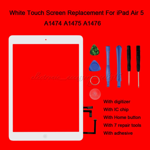 Touch Screen Digitizer Replacement For iPad 5 Air 1 1st A1474 A1475 A1476 Lot