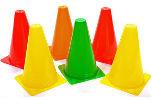 """Marker Training Cone OAS Set of 6 Witches Hats 4/"""" 100mm"""