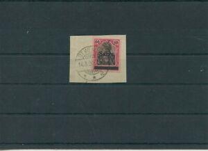 Saar-Region-de-la-Sarre-1920-Mi-16-Timbres-Used-Morceau-Lettre-Verifie-Kruger