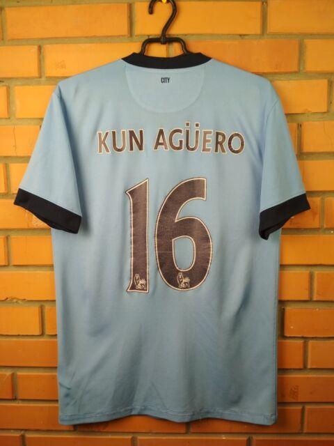 4d745b0a675 Kun Aguero Manchester City jersey 2014 2015 home shirt 611050-489 soccer  Nike